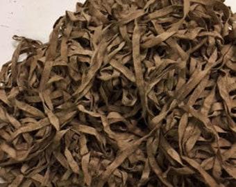 """Twill Tape - Bird Nest Twill Tape - Dark Splotchy Brown - Hand-Dyed 100% Cotton Quarter Inch (1/4"""")"""