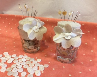 Buttons in a Cup Pincushion