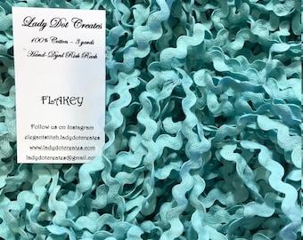 Rick Rack Trim - Flakey Hand-Dyed 100% Cotton Half Inch