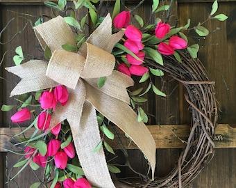 Pink Wreath Etsy