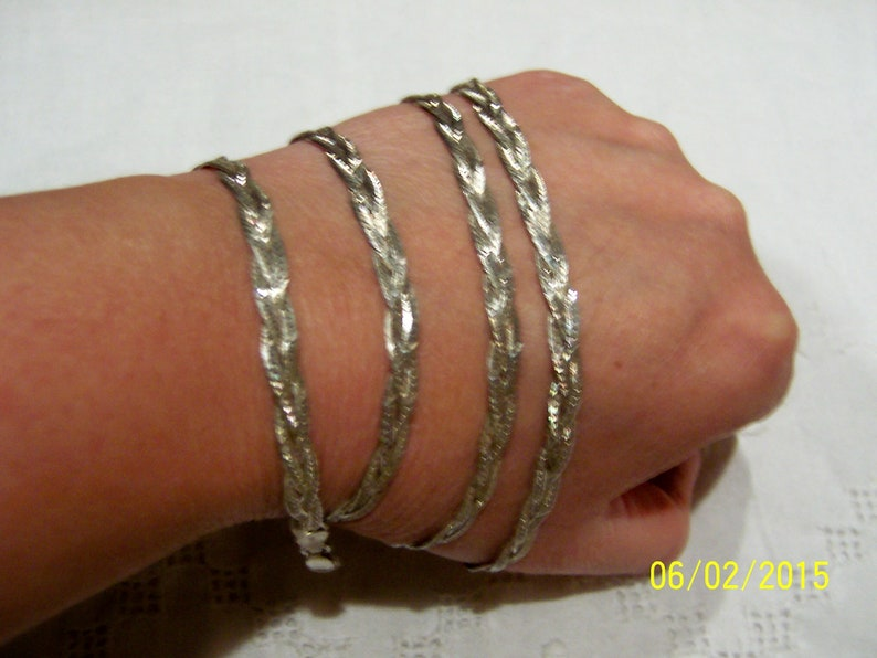 Sterling silver. EXTENDED SALE 20/% OFF Vintage Braided Chain-necklace