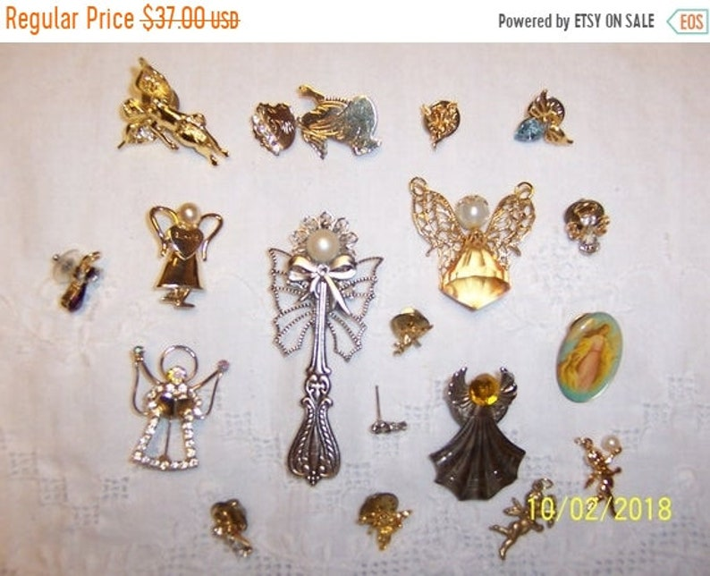 Angels Ii. 18 pieces SPRING SALE 20/% OFF Vintage Brooches  and Pins lot 139