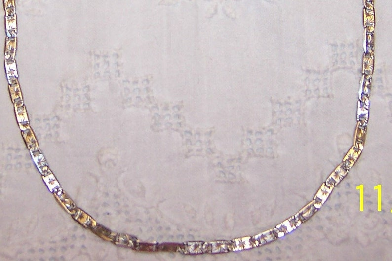Sterling Silver. EXTENDED SALE 20/% OFF Vintage Links Necklace