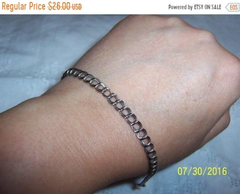 Sterling silver. EXTENDED SALE 20/% OFF Vintage Double Links bracelet