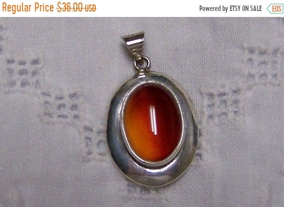 Sterling silver and plated. SPRING SALE 20/% OFF Tan Brown Agate round pendant