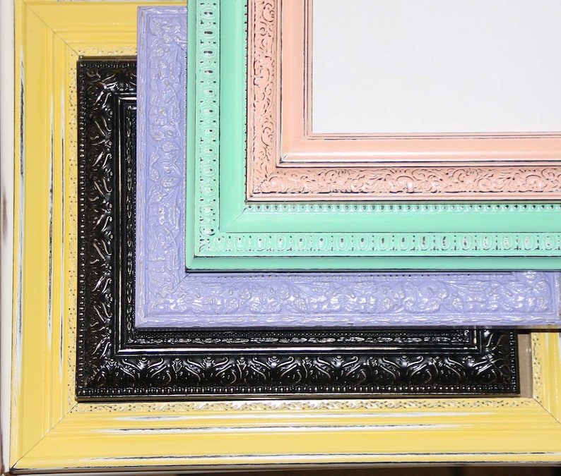 Painted FrameYour Choice of Size Color /& Style Hand Painted Distressed Frame Made to Order
