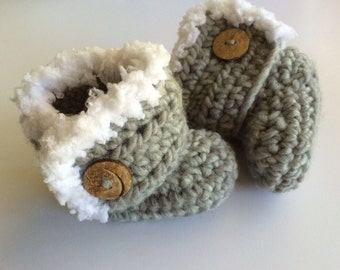 Crocheted Baby Booties- Newborn- Infant- 0-3 mth, 3-6 mth,6-12mth