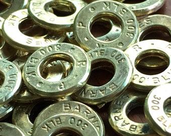 300 Blackout brass bullet slices 30 pc lot