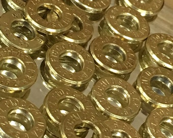 AK 47 bullet slices 7.62 x 39 brass 20PC deprimed AK47 for jewelry making