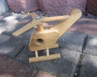 Wooden Toy Helicopter. Creative Playthings. Made in Finland. Wood Toys. Nursery Display Helicopter