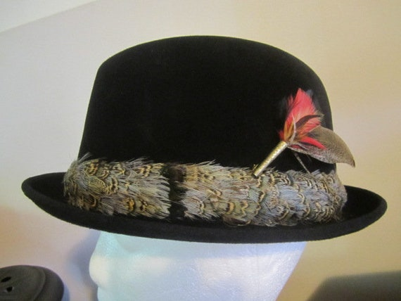 Vintage Knox Fedora with Feather Hat Band.  Origin