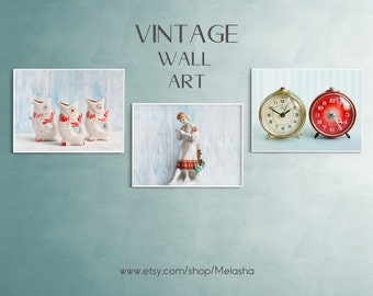Fine Art Photography - Wall Art Prints - Vintage Style - Set of 3 Prints - Digital download