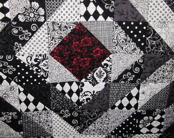 Black and White Lap Quilt