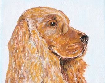 Acrylic painting of a Dog