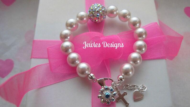 REBORN DOLL Personalised Name Bracelet Girl Doll Swarovski Pearls /& Crystals