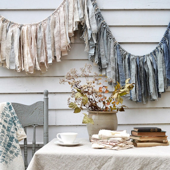 Tempest Fabric Garland Wedding Shower Banner Rustic Home Etsy
