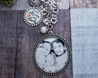 Custom Fused Glass Pendant with YOUR personal photo of choice