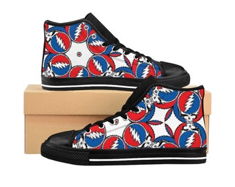 0efa2d57eac9 M - Pin Head Pin Wheel - Vibe Tribe Collection - Grateful Dead Steal Your  Face Lightning Bolt - Men s High-top Sneakers