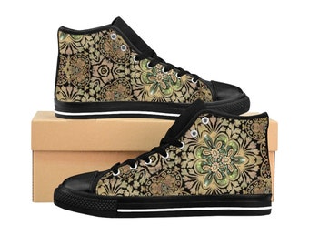 f3907bacec815 W - Shell Shock - New Age Collection - Holy Abalone Deep Sea Ocean Flow  Style - Women's High-top Sneakers