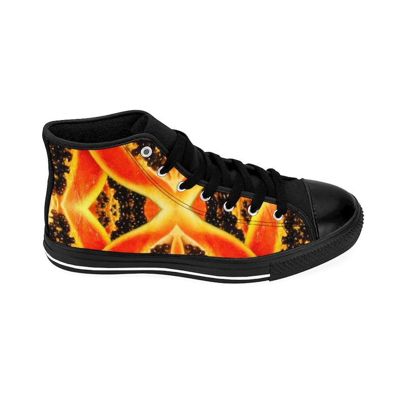 Men/'s High-top Sneakers Fruit Seed Mix Yummy Tummy Tropical Energy M Bon Appe/'Feet Collection Guava Walkers Orange Black