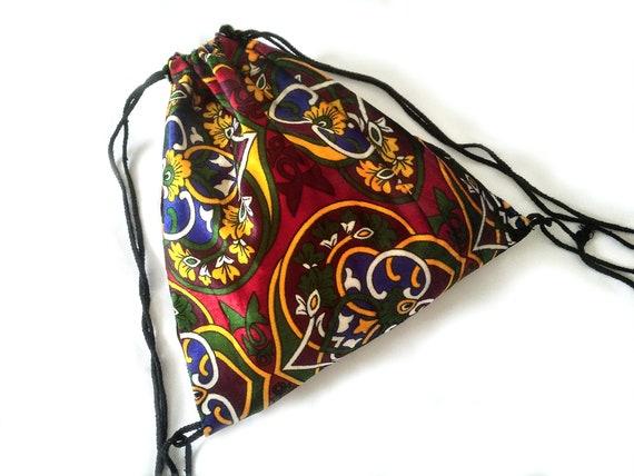 Gypsy velours Backsack Boho Hippie sac cordon sac à dos automne hiver Bohème plage d'été fête festival ethnique royal tribal