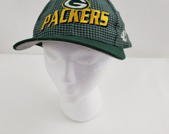 Green Bay Packers 90s Green Plaid Snapback Hat Vintage f87b7a4756e3