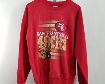 San Francisco 49ers NFL Crew Neck Sweatshirt Mens M Red Vintage 90s USA 9ddd3af6b
