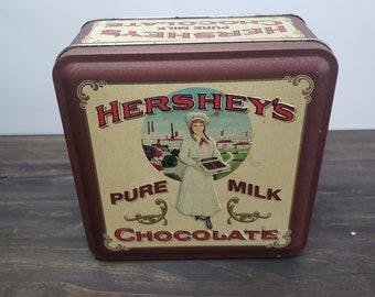 Hersheys chocolate Tin container 1992