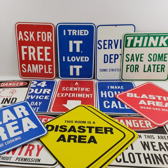 Vintage Cardboard Signs Lot Of 14 Etsy