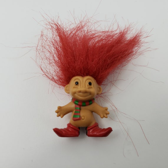 NEW STORE STOCK w//OUT STICKER Russ Troll Doll CHRISTMAS ELF  RING