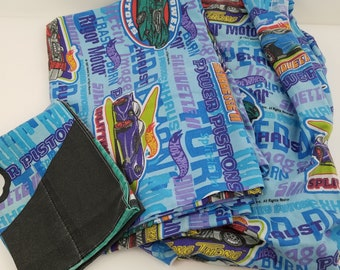 Hot Wheels Sheet Set Flat Fitted Pillowcase Twin Size Vintage 1997 Fabric
