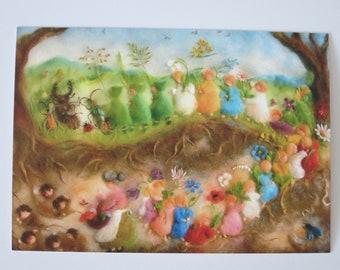 Root Children in Spring - Seasonal Table - Postcard - Waldorf