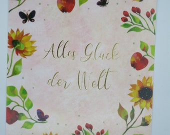 All happiness in the world - Birthday card - Postcard