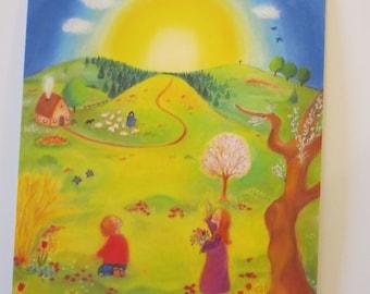 Easter picture - Seasonal table - Waldorf - Postcard