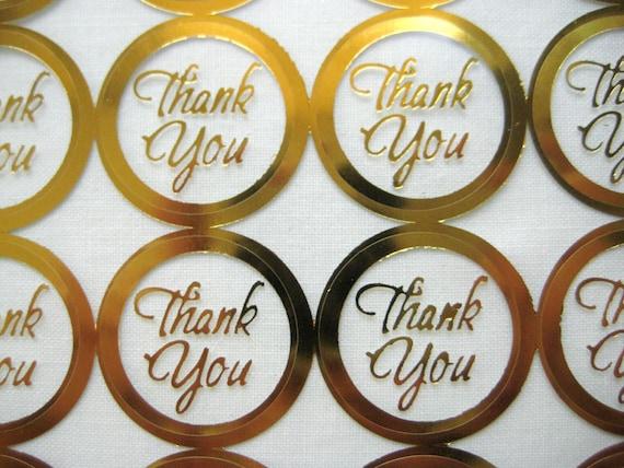 Danke Gold Druck Hochzeit Runde Umschlag Siegel Aufkleber Gold Klar Transparent Runde Danke Aufkleber Dichtungen 1 Zoll 60 Oder 100 Aufkleber