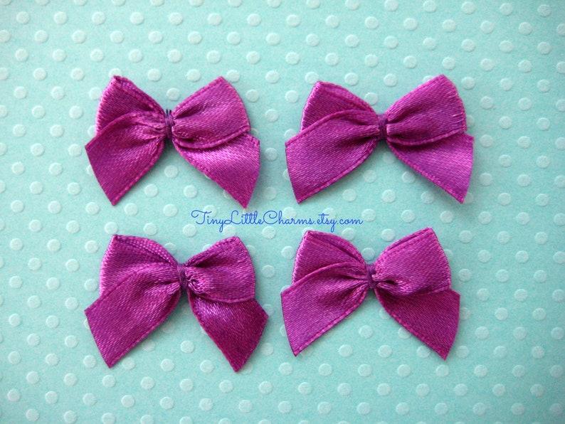 Pz viola satin ribbon bow applique per cucito etsy