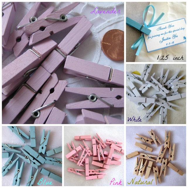 125 Inch Wooden Clothespins For Wedding Favors Scrapbooking Etsy