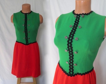 Red and Green Dress