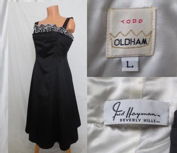 Todd Oldham Fred Hayman Beverly Hills Little Black Dress Etsy