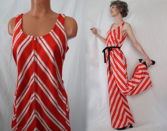 M/L LOLLA PALAZZO vintage jumpsuit - orange white