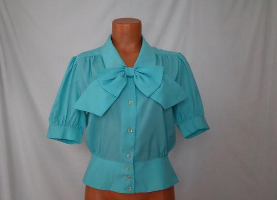 S JOSEPHINE vintage blouse shirt - 80s does 40s re