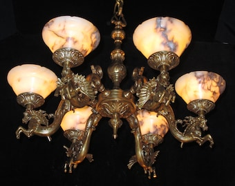 Horse chandelier etsy chandelier aloadofball Image collections