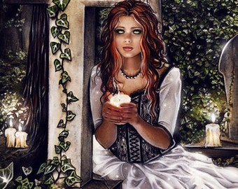 I know you hear me..gothic fantasy dark artprint