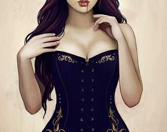 Elsbeth gothic fantasy dark artprint
