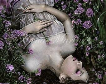 Silent lullaby gothic fantasy dark artprint