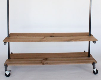 Clothing rack with Double shelves