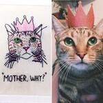 Custom embroidered pet portrait