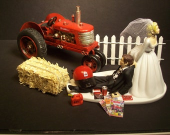 Tractor wedding cake topper | Etsy