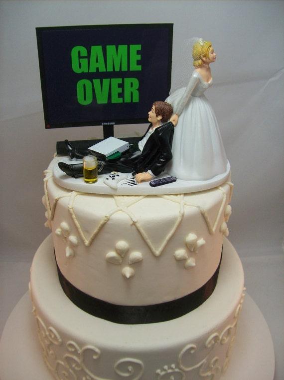 Game Over Oder Jedes Spiel Bild Lustige Hochzeitstorte Etsy
