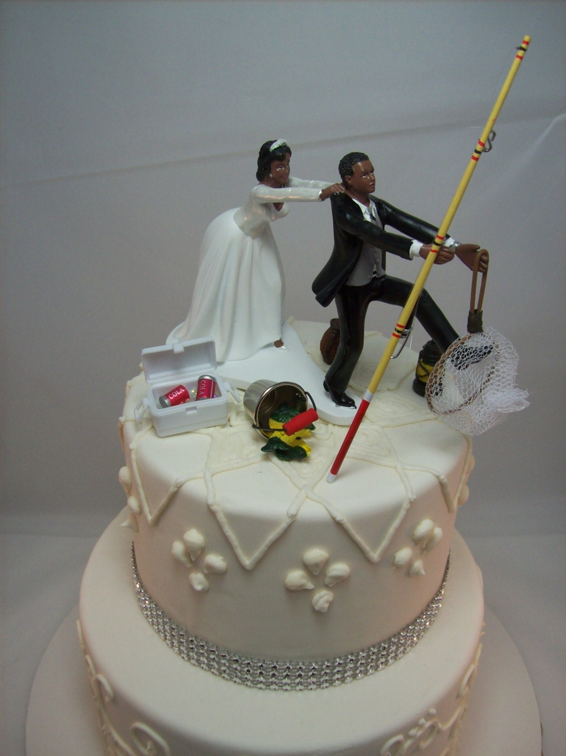 No FISHING Come back Funny Wedding Cake Topper Bride and ...